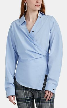 We Adore: The Draped Cotton Poplin Shirt from Cedric Charlier at Barneys New York