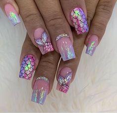 Cute Acrylic Nails, Cute Nails, Gel Nails, Baby Pink Aesthetic, Nail Designs, Make Up, Nail Art, Beauty, Ideas