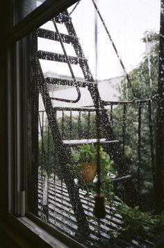 Rain makes me happy.