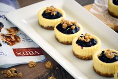 Gluten Free Granola Mini Cheesecakes couldn't be easier to make. But you knew that about cheesecake already. What's awesome here is the granola crust!