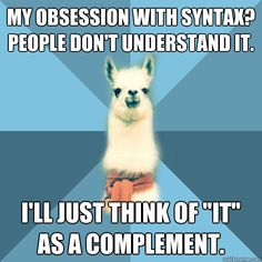 Only for Linguistics nerds . . .