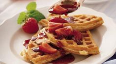Are you a weekend breakfast chef?  Serve wheaty granola waffles in your home restaurant.