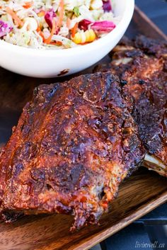 This recipe for Baby Back Ribs is the best ever! Marinated for 8 hours in a to die for dry rub and then slow-roasted to fall off the bone perfection! Rib Recipes, Whole Food Recipes, Healthy Recipes, Pork Tenerloin, Back Ribs In Oven, Best Ribs Recipe, Ripped Recipes, Light Soups, Barbecue Ribs
