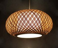 New Hand Wovern From Bamboo and Parchment Pendant lights por VIWEI