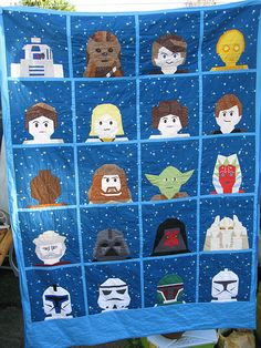 Star Wars Lego Quilt - Genius! A gal at the LMQG made this and it is FABULOUS! Wonder if I can make it for my kid before he's at university!