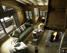 The Alpine paradise of your dreams: lavish yet wonderfully cozy. The decor mixes minimalism with rustic chic: think vaulted ceilings made with beams of rough-hewn wood, white linen sofas, stone fireplaces, hand-thrown pottery, the occasional plant.