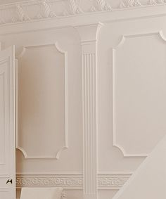 Classic I panel molding installed Arch Molding, Wall Panel Molding, Faux Crown Moldings, Moldings And Trim, Ceiling Design, Wall Design, Orac Decor, Victorian Bedroom, Inviting Home