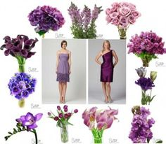 Purple bridesmaid flowers were the most popular color in 2012 and we see the trend continuing. Look at all the purple flowers your girls can carry! Purple Wedding Bouquets, Purple Wedding Flowers, Bridesmaid Flowers, Wedding Colors, Bridesmaid Ideas, Wedding Types, Our Wedding, Wedding Ideas, Wedding Ceremony