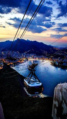 Rio de Janeiro lights... Brazil (by Eduardo Berthier on Flickr) Great way to see the beauty of Rio.