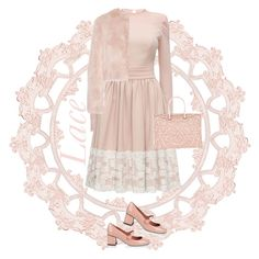 """Valentino Lace"" by musicfriend1 ❤ liked on Polyvore featuring Lattori, RED Valentino, Valentino, valentino and lacedress"