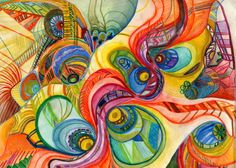 Abstract Colored Pencil Art | Abstract Water Color and Colored Pencil Art Print by Madison McCaulley ...