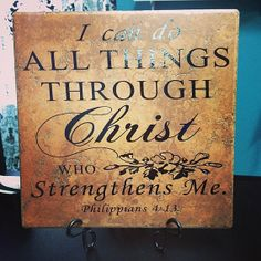 Personalized Tile I Can Do All Things Through by MemoryMakersLLC, $27.00