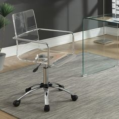 coaster office chairs acrylic office chair with steel base coaster fine furniture