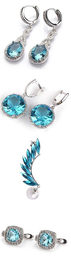 Aquamarine is my favorite gemstone, Isn't it one of the most gorgeous stones? Check out beautiful aquamarine gemstone earrings we have. Click on the picture!