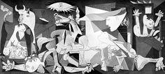 """Cubismo. feito por Pablo Picasso esse quadro se chama """"Guernica"""". Fiquei impressionado com o quadro e espantado pelo que aconteceu para Picasso fazer esse quadro. Aconteceu um bombardeio em Guernica que deixou vários mortos e vários feridos."""