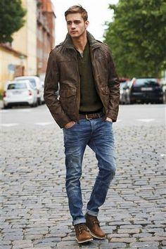 Next Mens Leather Jacket - JacketIn