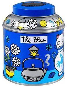 Boît à thé bleu