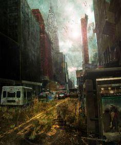 Post-Apocalyptic City by ~OpticalIrony on deviantART