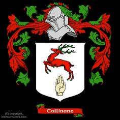 Cullinane Coat of Arms, Family Crest - Click here to view