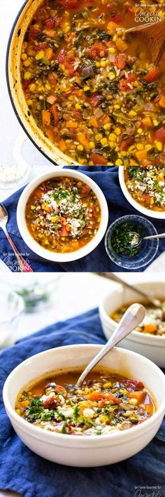 A hearty soup full of good-for-you veggies! This one-pot vegetable rice soup is full of flavor and takes just an hour start to finish.
