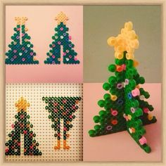 Christmas crafts: lots of great ideas iron beads christmas tree christmas Christmas diy hama bead tree crafting crafts for kids for teens to make ideas crafts crafts Kids Crafts, Tree Crafts, Christmas Crafts For Kids, Holiday Crafts, Christmas Diy, Diy And Crafts, Christmas Decorations, Christmas Ornaments, Xmas