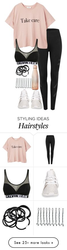 """Untitled #5022"" by theeuropeancloset on Polyvore featuring MANGO, adidas, Calvin Klein, H&M, BOBBY and S'well"