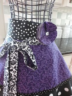 Pretty In Purple Annabelle Style Women's Half by 4RetroSisters