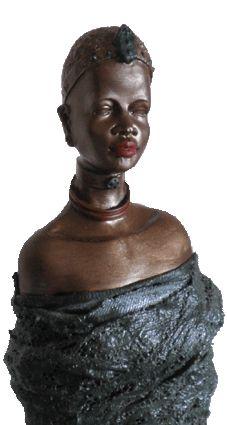 Powertex Sculpture African Woman Noola