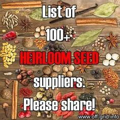 Heirloom Seed Suppliers