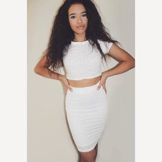 """@jordeecakes is wearing the """"Perfect Pair"""" skirt and top by #fevriefashion!"""