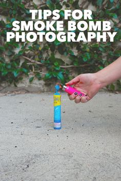 Fun tips on how to use smoke bombs correctly in your next shoot!