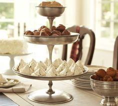 Antique-Silver 3-Tier Stand - a lovely addition to an afternoon tea party... or any other festive occasion!