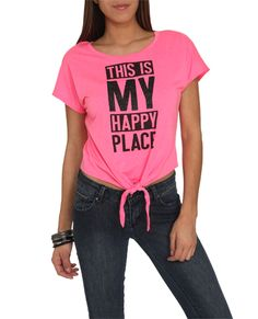 Happy Place Tee - Tops | Yoga top