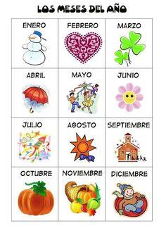 Meses enEspañol #Spanish #online for children and teenagers, guided by Spanish native teachers in Spain. www.spanish-school-herradura.com http://easywayspeakspanish.blogspot.com
