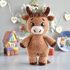 Crochet Cow, Crochet Teddy Bear Pattern, Giraffe Crochet, Crochet Animal Amigurumi, Crochet Amigurumi Free Patterns, Crochet Animal Patterns, Amigurumi Toys, Stuffed Animal Patterns, Crochet Animals
