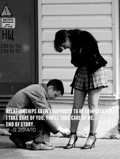 Love #122: Relationships aren't supposed to be complicated. I take care of you, you'll take care of me. There are no third parties in this one on one relationship.