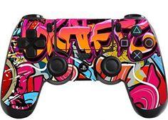 PlayStation 4 Sticker Skin Set für Konsole + 2 Controller (Hip Hop Graffiti) playstation spiele playstation geschenk play station 4 geschenkideen playstation 4 spiele zocken