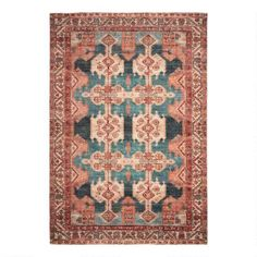 Coral Persian Style Zara Area Rug | World Market