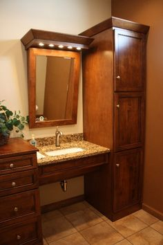 BEAUTIFUL! Woodpro ADA ensemble in eastlawnsupply.com showroom Nazareth, PA woodpro.com #ada #accessible #bathroom
