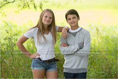 Fun brother and sister  photo. good for me and my little brother :)     #siblings #nature #pose