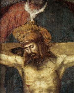 Masaccio, Santa Trinità (detail), 1425, Santa Maria Novella, Florence.