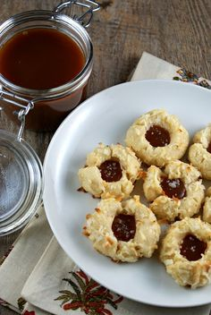 AUTHENTIC SUBURBAN GOURMET: { SALTED CARAMEL AND COCONUT THUMBPRINT COOKIES }