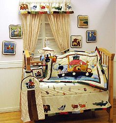 I love the trim on the window! and the blanket is great! Noahs Ark Nursery, Noahs Ark Theme, Baby Nursery Themes, Baby Boy Rooms, Baby Room Decor, Baby Boy Nurseries, Nursery Ideas, Everything Baby, Nursery Bedding
