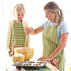 Turn a tea towel into an easy cooking cover-up. Then whip up another one for your little helper.