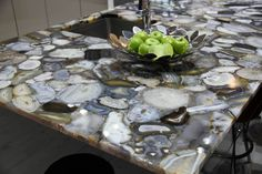 By-pass granite, opt for Agate! Gorgeous hand-cut agate counters by Concetto by CaesarStone.
