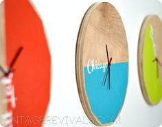 Be Different...Act Normal: DIY Clock Art