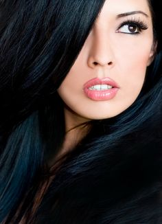one day I will go back to blue black hair, prefer this over reds, browns, blondes...hair looks healthy