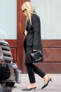 """Ashley Olsen looking city chic in her own clothing line """"The Row."""""""