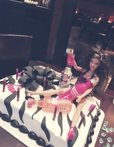 Drunk Barbie bachelorette cake!