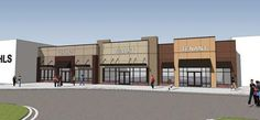 Big Box Retail Building | This architecutral rendering shows the proposed look for a retail ...